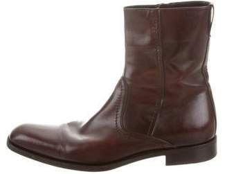 Salvatore Ferragamo Leather Ankle Boots