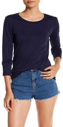 Susina Long Sleeve Cotton Layering T-Shirt (Petite)