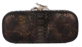 Diane von Furstenberg Embossed Kiss-lock clutch