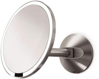 Simplehuman Wall Mount Stainless Steel Rechargeable Sensor Mirror 20cm