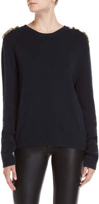 Gerard Darel Epaulet Drop Shoulder Sweater