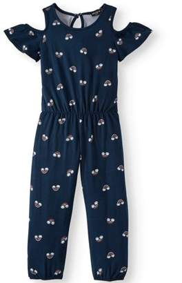 XOXO Cold Shoulder Printed Yummy Jumpsuit (Little Girls and Big Girls)