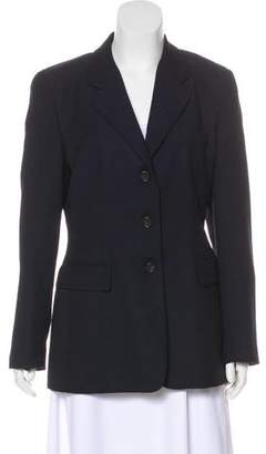Luciano Barbera Wool Notch-Lapel Blazer