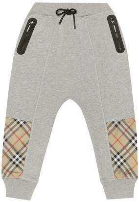 Burberry Check cotton trackpants