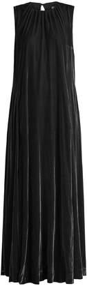 Raey Gathered-neck velvet maxi dress
