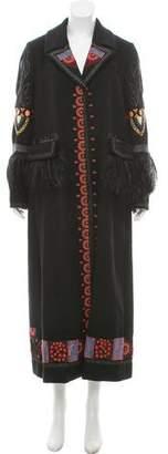 Valentino 2016 Long Embellished Wool Coat