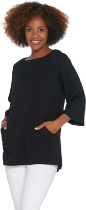 Linea By Louis Dell'olio by Louis Dell'Olio Pebble Crepe Tunic with Inverted Pleats