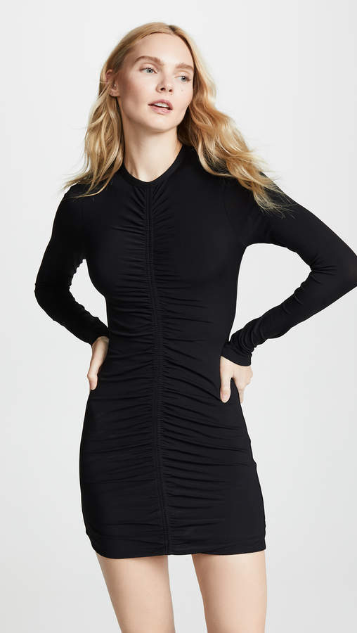 Long Sleeve Dress with Ruching Detail