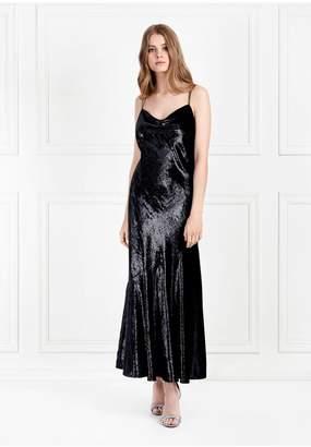 Rachel Zoe Lolita Metallic Velvet Midi-Dress
