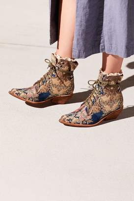 Jeffrey Campbell Grove Lace-Up Western Boot