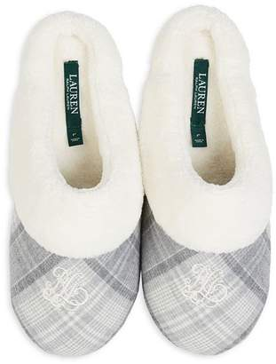 Ralph Lauren Embroidered Cuffed Slippers