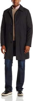 Cole Haan Men's Nylon Rain Coat with Removable Liner