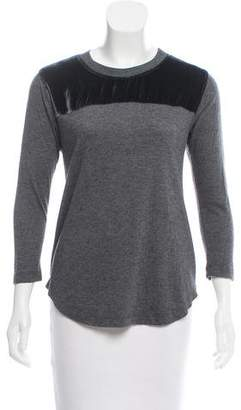 Rebecca Taylor Crew Neck Long Sleeve Top