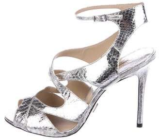 Michael Kors Embossed Caged Sandals