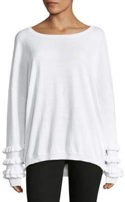 Lord & Taylor Boatneck Ruffle-Sleeve Top