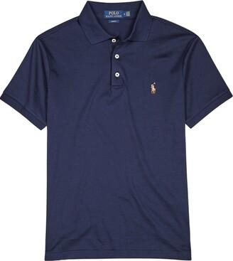 Polo Ralph Lauren Navy Slim Pima Cotton Polo Shirt