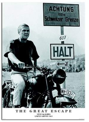 The Great iPosters Escape Steve Mcqueen Poster Satin Matt Laminated