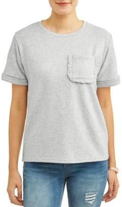 Alison Andrews Women's Short Sleeve Ruffle Pocket T-Shirt
