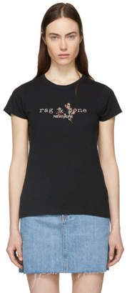 Rag & Bone Black Bouquet Logo T-Shirt