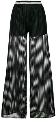 Just Cavalli striped flared trousers