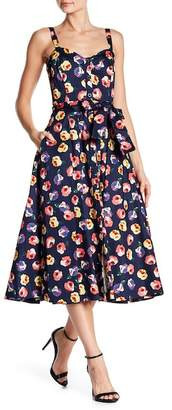 Rachel Roy Clara Fit & Flare Floral Print Dress