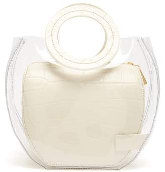 STAUD Frida Leather & Pvc Tote Bag - Womens - Cream