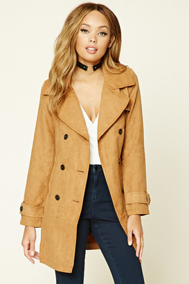 FOREVER 21+ Faux Suede Double-Breasted Coat $29.90 thestylecure.com