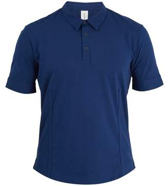 S0rensen - Driver Point Collar Cotton Jersey Polo Shirt - Mens - Navy