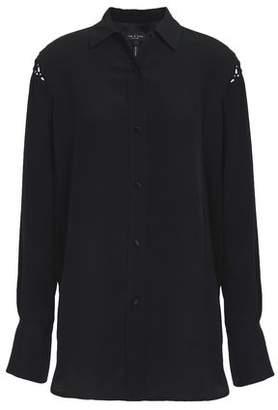 ec4f28d6 Rag & Bone Hana Macrame-trimmed Silk Crepe De Chine Shirt