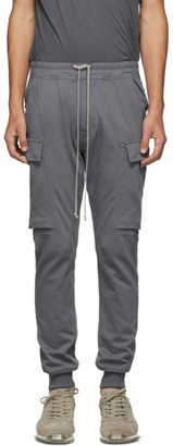 Rick Owens Grey Cargo Jog Lounge Pants