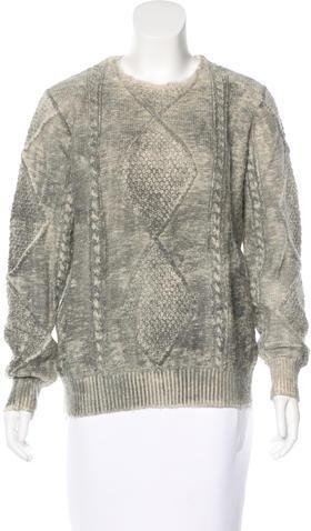 Maison Martin Margiela Cable Knit Wool Sweater