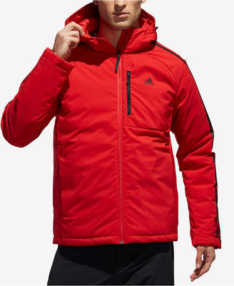 adidas Men's Three-Stripe Hooded Down Jacket