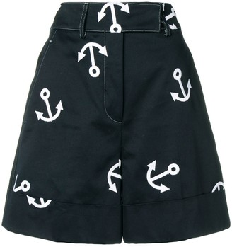 Thom Browne Anchor Embroidery Short