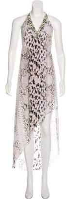Haute Hippie Animal Print Maxi Dress