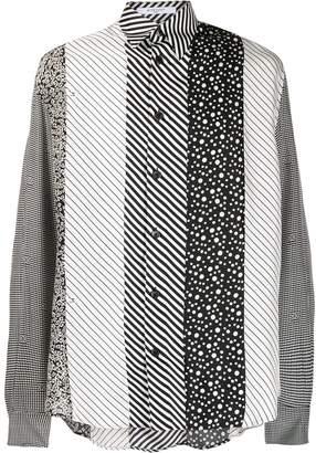 Givenchy patchwork stripe shirt