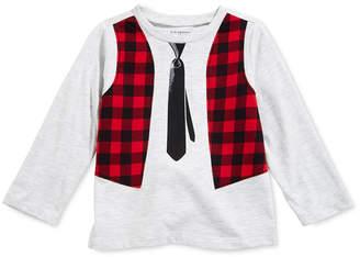 First Impressions Baby Boys Vest-Print T-Shirt