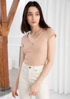 And other stories Ribbed Crop Top