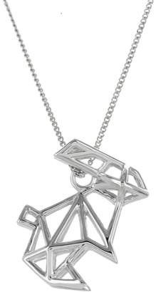 Origami Jewellery Frame Rabbit Necklace Sterling Silver