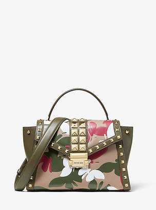 Michael Kors Whitney Medium Butterfly Camo Leather Satchel