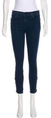 J Brand Mid-Rise Skinny-Leg Jeans