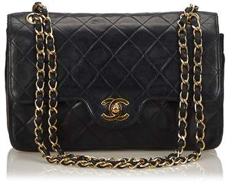 Chanel Vintage Classic Small Leather Double Flap Bag