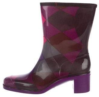 Emilio Pucci Printed Rubber Rain Boots