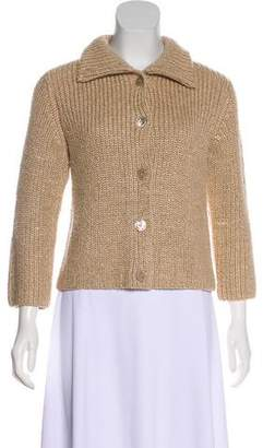 Ralph Lauren Black Label Silk & Cashmere-Blend Knit Cardigan