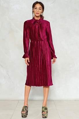 Nasty Gal Attention Pleats Velvet Dress