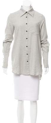 Kimberly Ovitz Printed Button-Up Top
