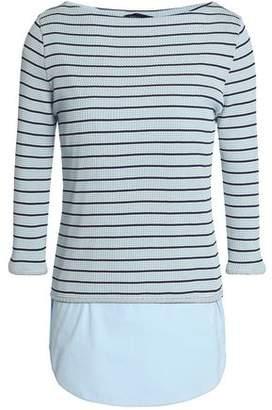 Piazza Sempione Striped Cotton-jersey And Poplin Shirt