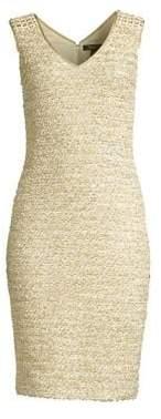 St. John Gilded Eyelash Knit Dress
