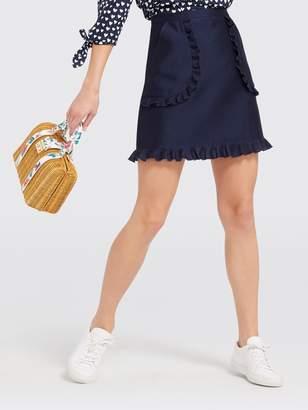 Draper James Solid Ruffle Pocket Skirt