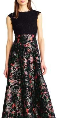 Aidan Mattox Floral Evening Gown
