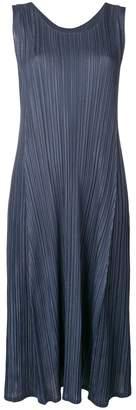 Pleats Please Issey Miyake sleeveless pleated dress